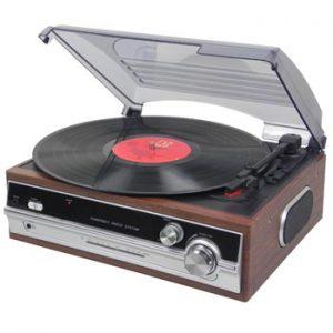 Retro Retro Line Skivspelare + FM-radio inb.högtalare - ur Ginzas retrosortiment.