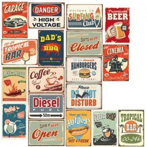 Väggklistermärken med vintagemotiv. Från Ginzas webshop.