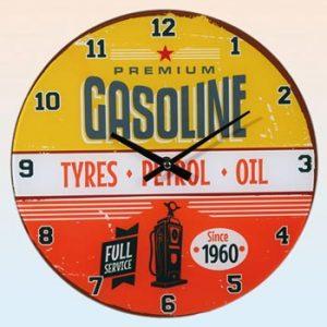 Väggklocka / Gasoline - ur Ginzas sortiment av retroklockor.