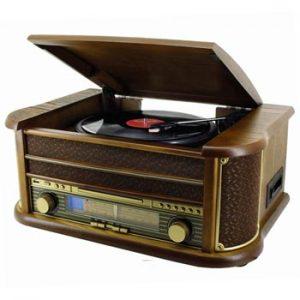Retro Line Vintage Skivspelare/Kassett/CD/USB från Ginza.