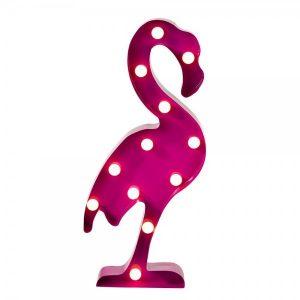 Bordslampa 5o cm, i forma v en rosa flamingo. Från Magasin 11.