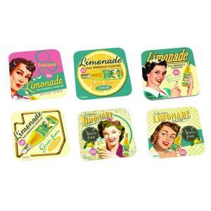 """Glasunderlägg med mönster """"Limonade coasters"""". Från Magasin11."""