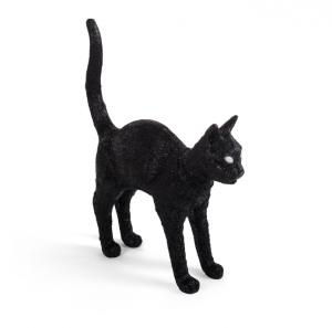 """""""Cat lamp Felix"""", en bordslampa i svart från Seletti."""