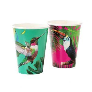 Pappersmuggar Tropical Bird 12-pack - finns att beställa hos Magasin11.se