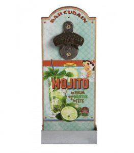 Mojito vägghängd kapsylöppnare med Mojito-motiv. Mått 12 x 30 cm. Kapsylöppnaren finns hos Magasin 11.