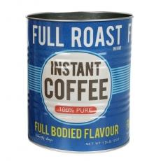 Blå plåtburk med Retro Instant Coffee-motiv. Ur Inspiris sortiment.