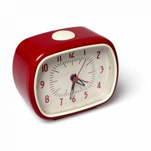 Röd retro väckarklocka