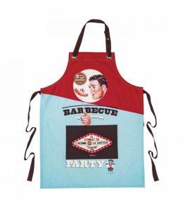 Retro förkläde med BBQ-motiv